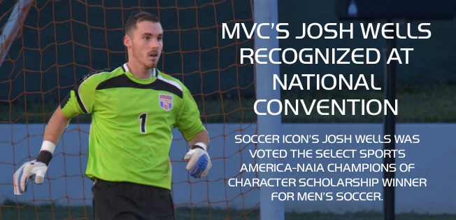 MVC's josh well recognized at convention