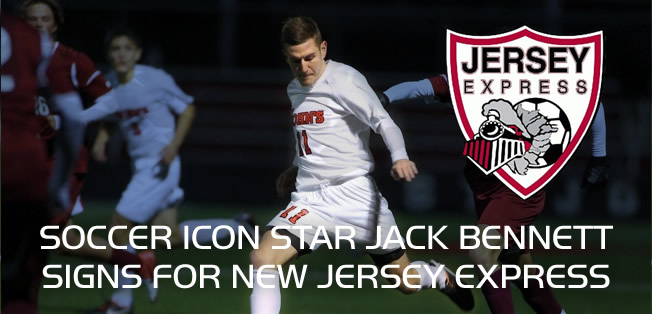 Soccer icon star Jack Bennett signs for New Jersey express